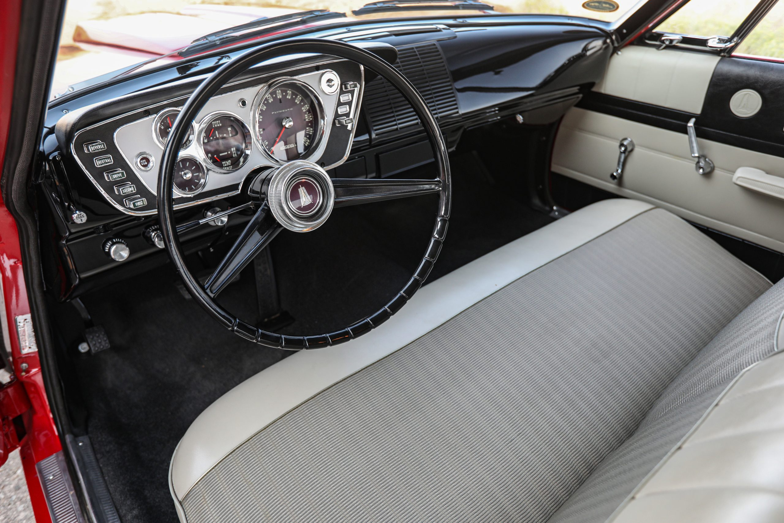 1963 Plymouth 426 Max Wedge lightweight interior front seats