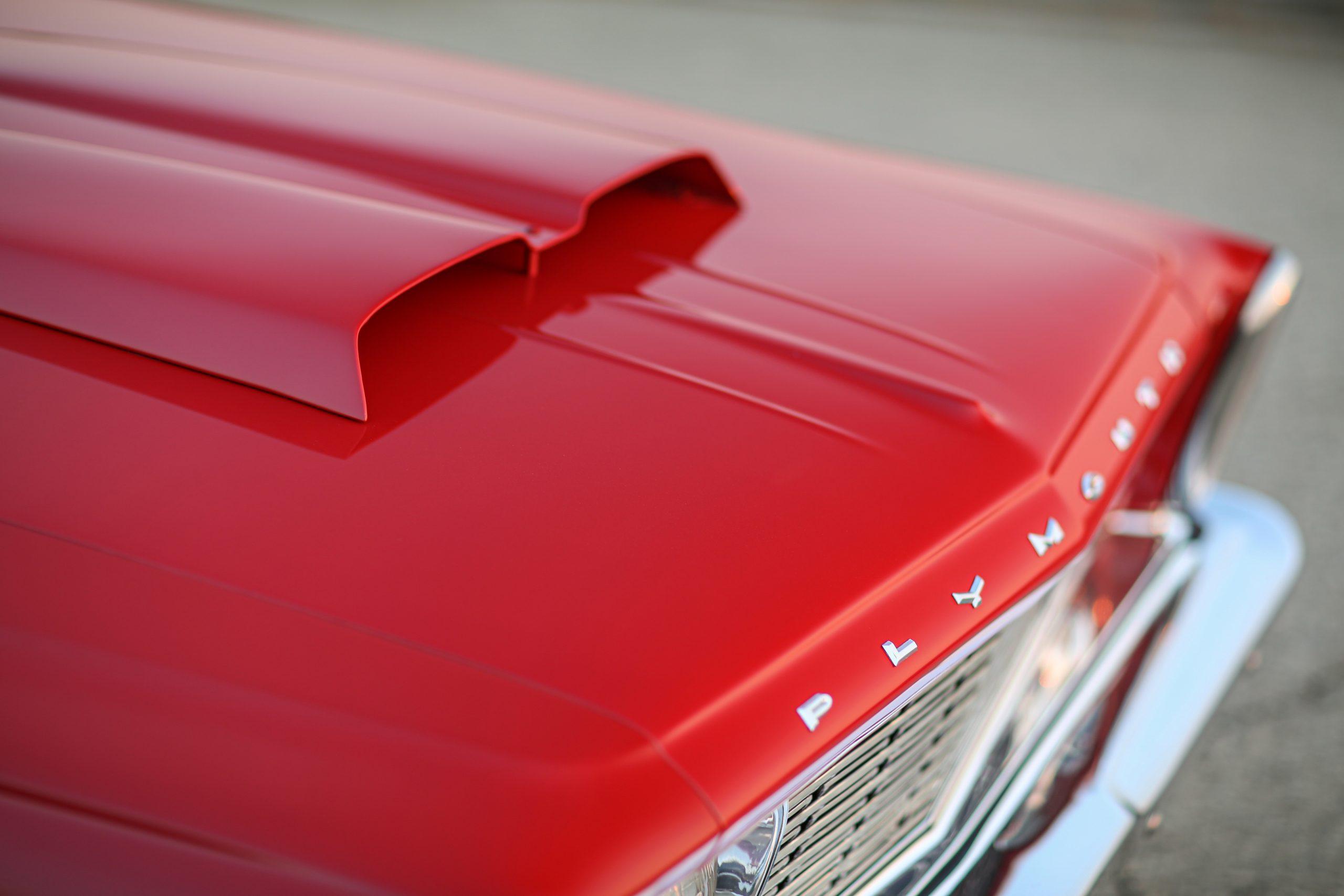 1963 Plymouth 426 Max Wedge lightweight hood scoop