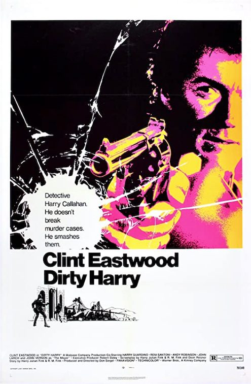 Clint Eastwood Dirty Harry Movie Poster Art