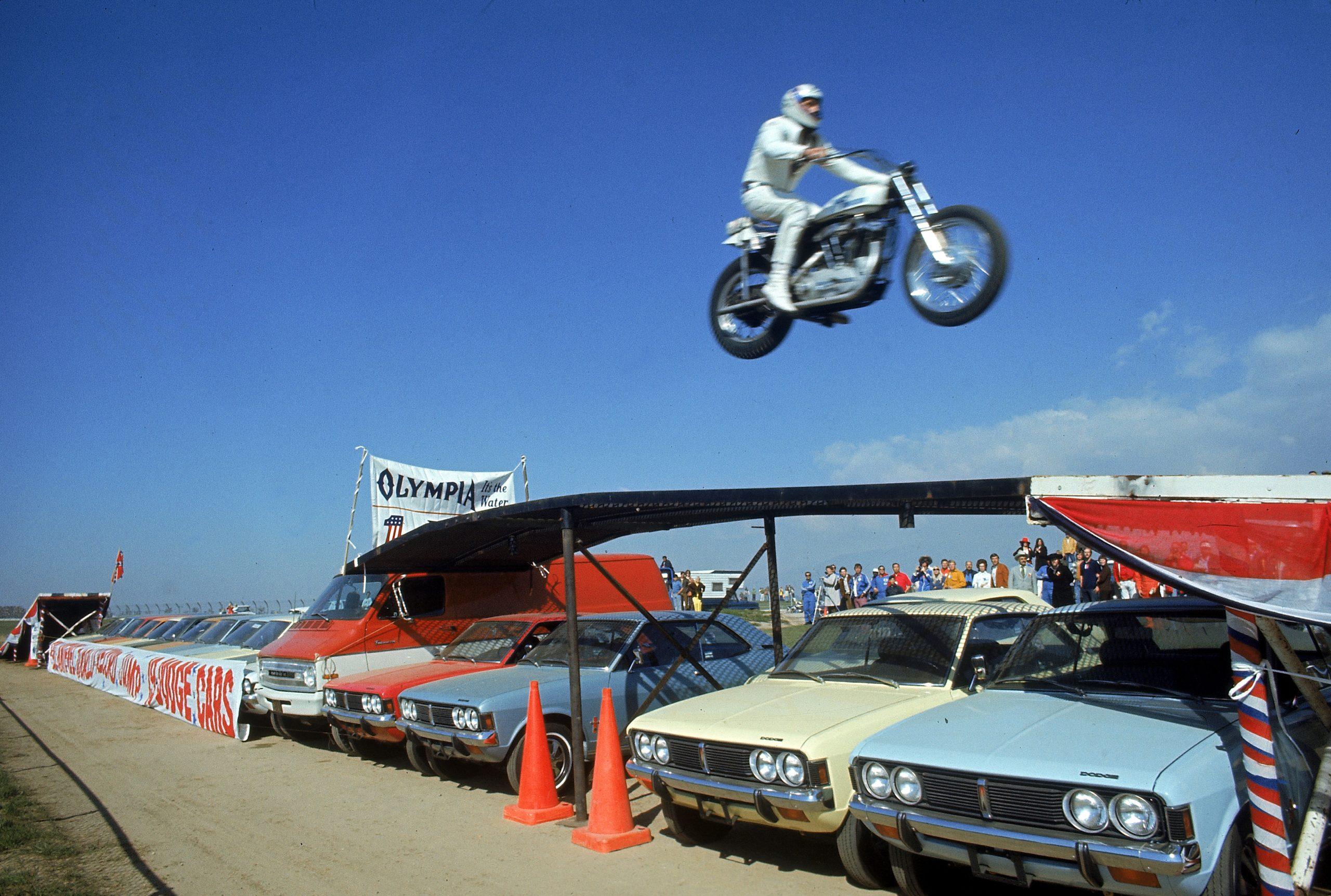 Evel Knievel In Flight