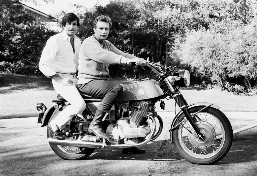 George Hamilton and Evel Knievel