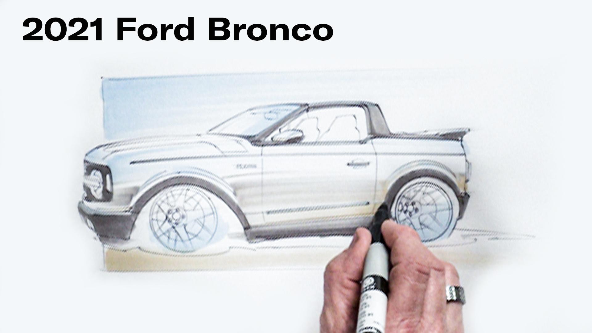 Chip Foose draws a Ford bronco