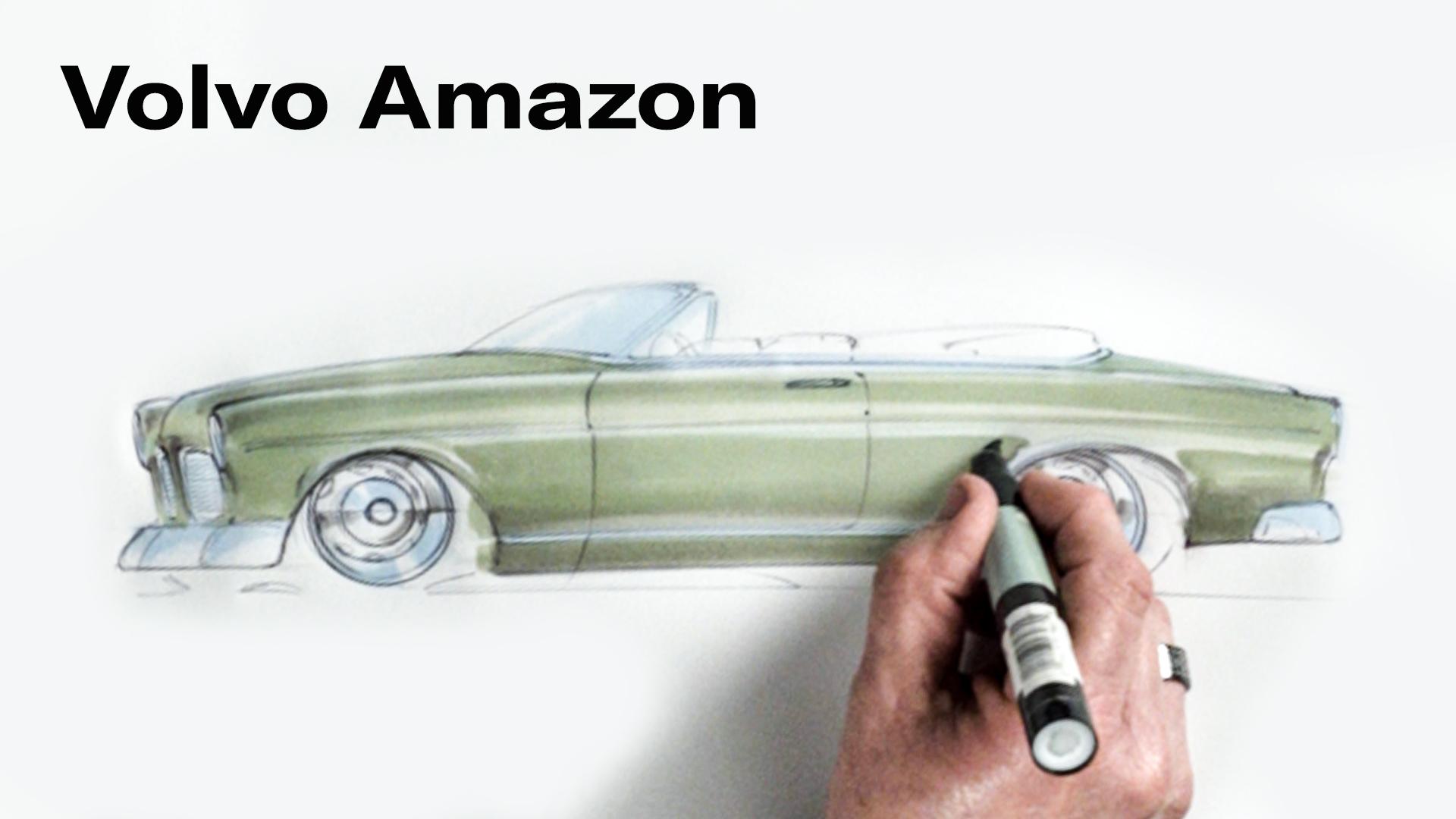 Chip Foose draws a Volvo Amazon