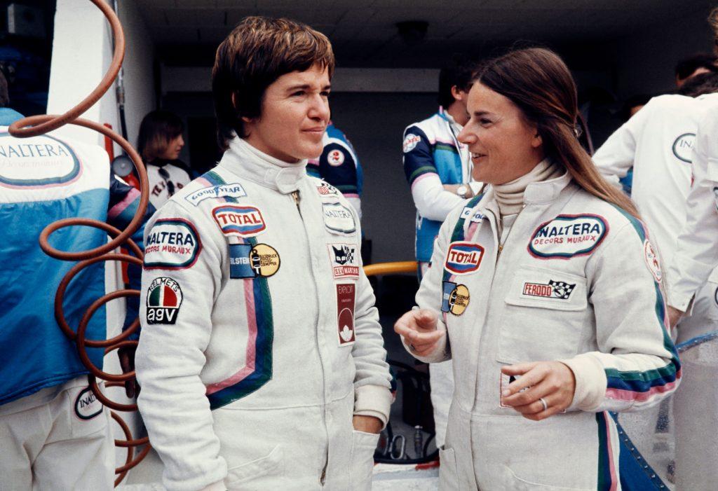 1977 le mans grand prix Lella Lombardi L and Christine Beckers R