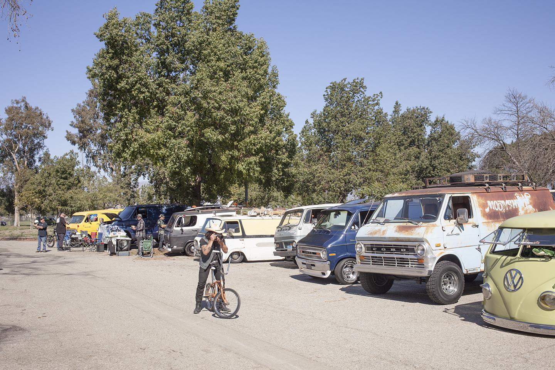 national boogie van day row of vans