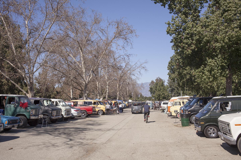 national boogie van day rows of vans