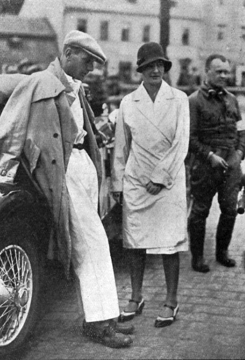 Hans Stuck and Eliška Junková circa 1930