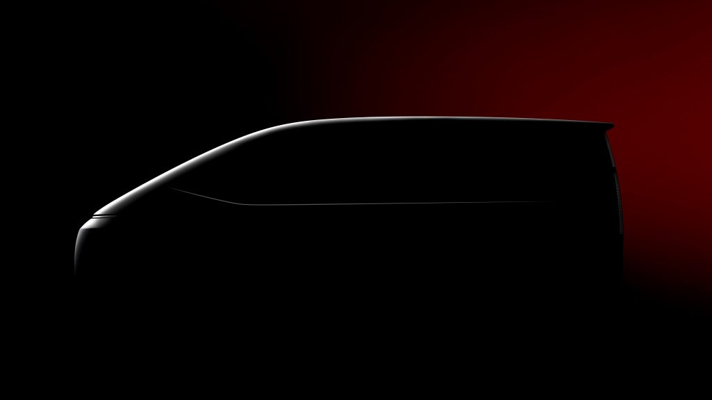 Hyundai Staria side profile silhouette