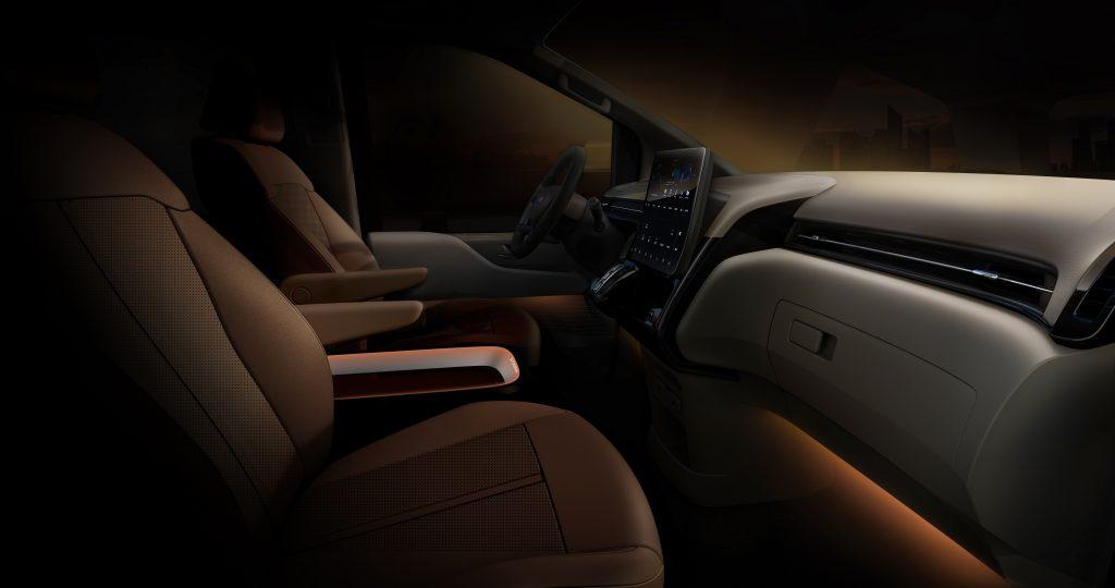 Hyundai Staria interior front row