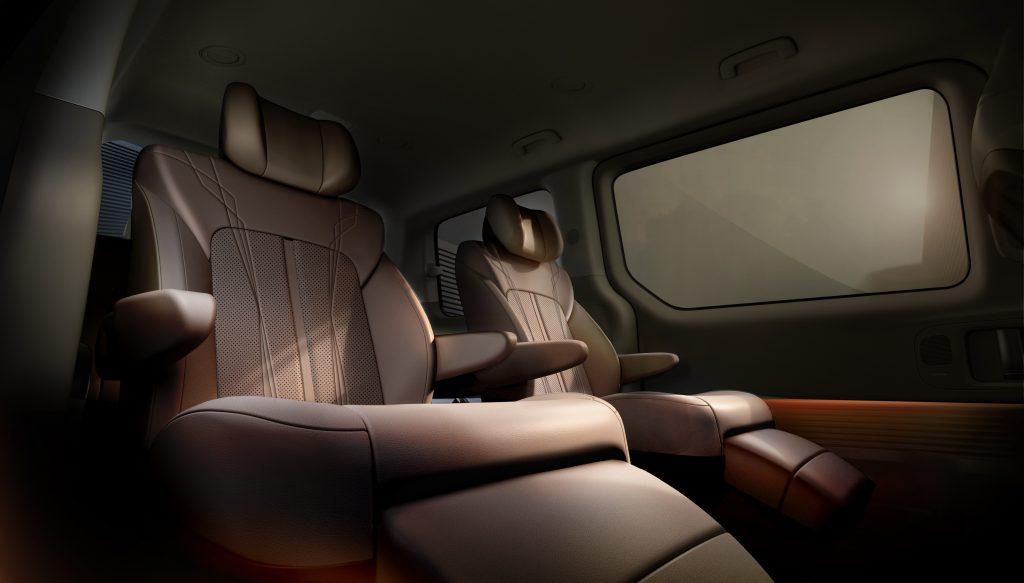 Hyundai Staria second row