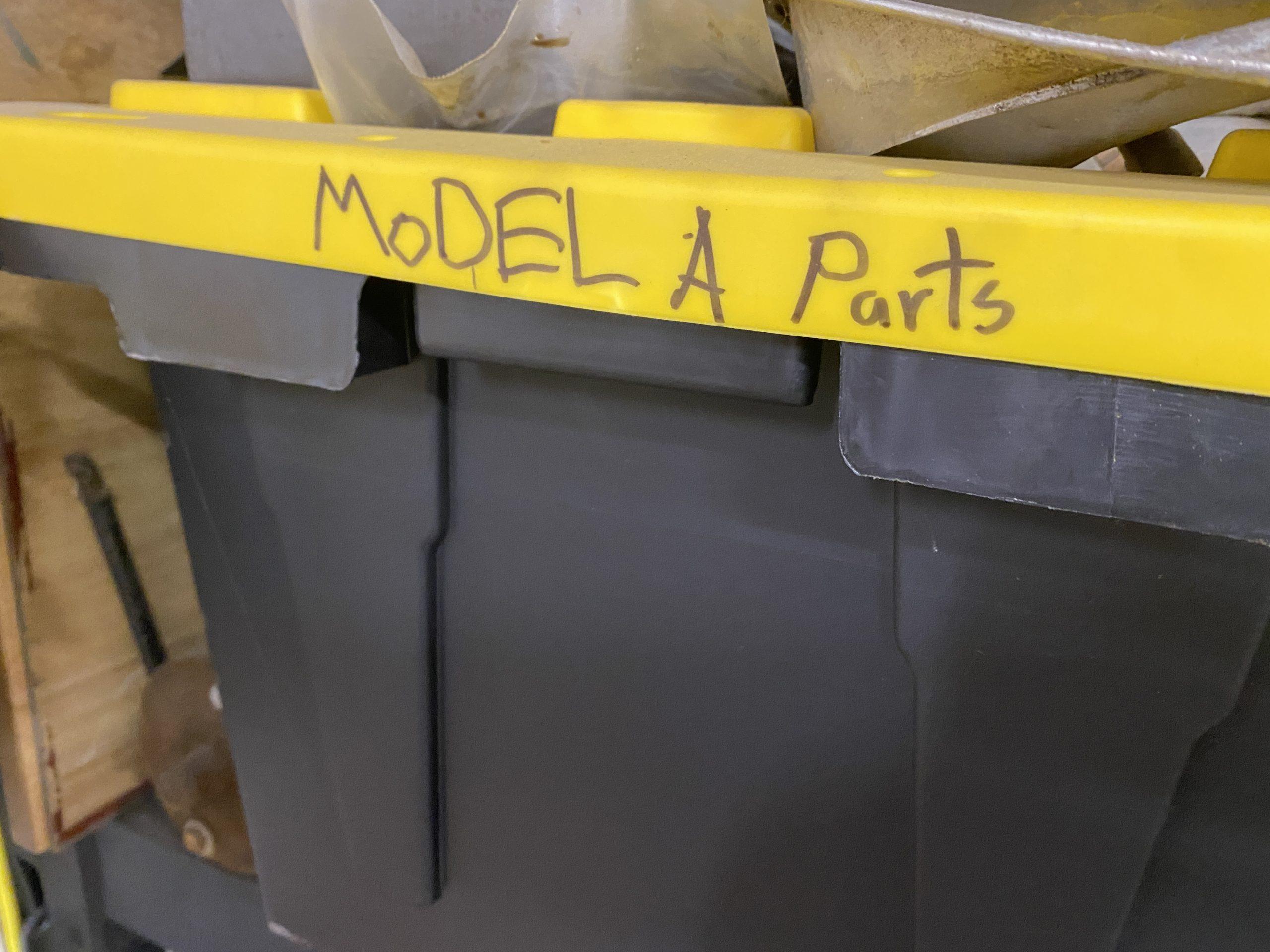 labeled bin