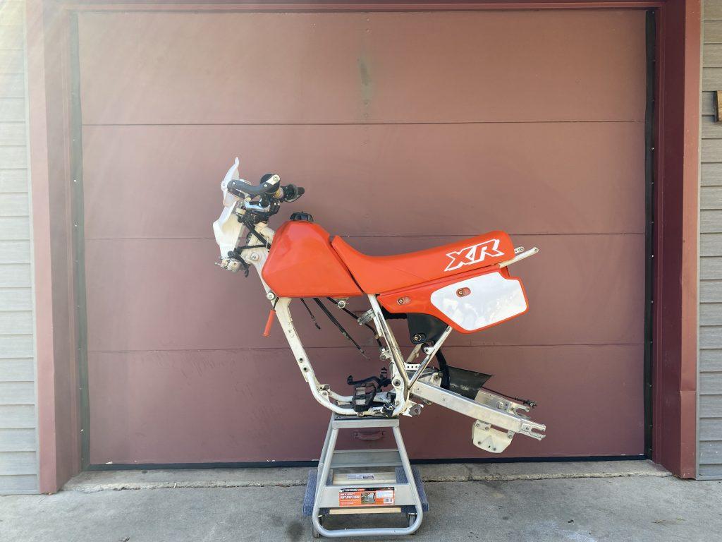 1989 Honda XR250 partially assembled