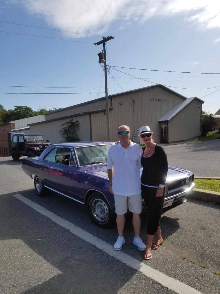 Diane Parker and brother 1970 Dodge Dart Plum Crazy Purple