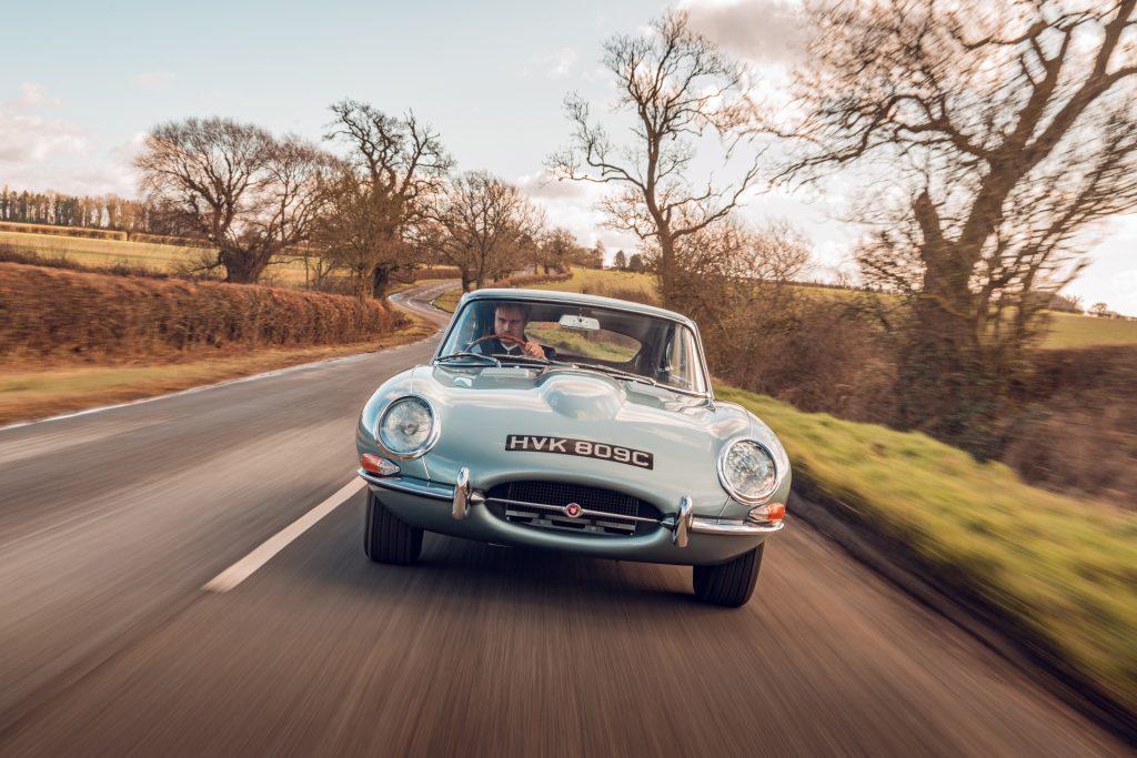 Jaguar E-Type Reborn 1965 Series 1 4.2 driving front