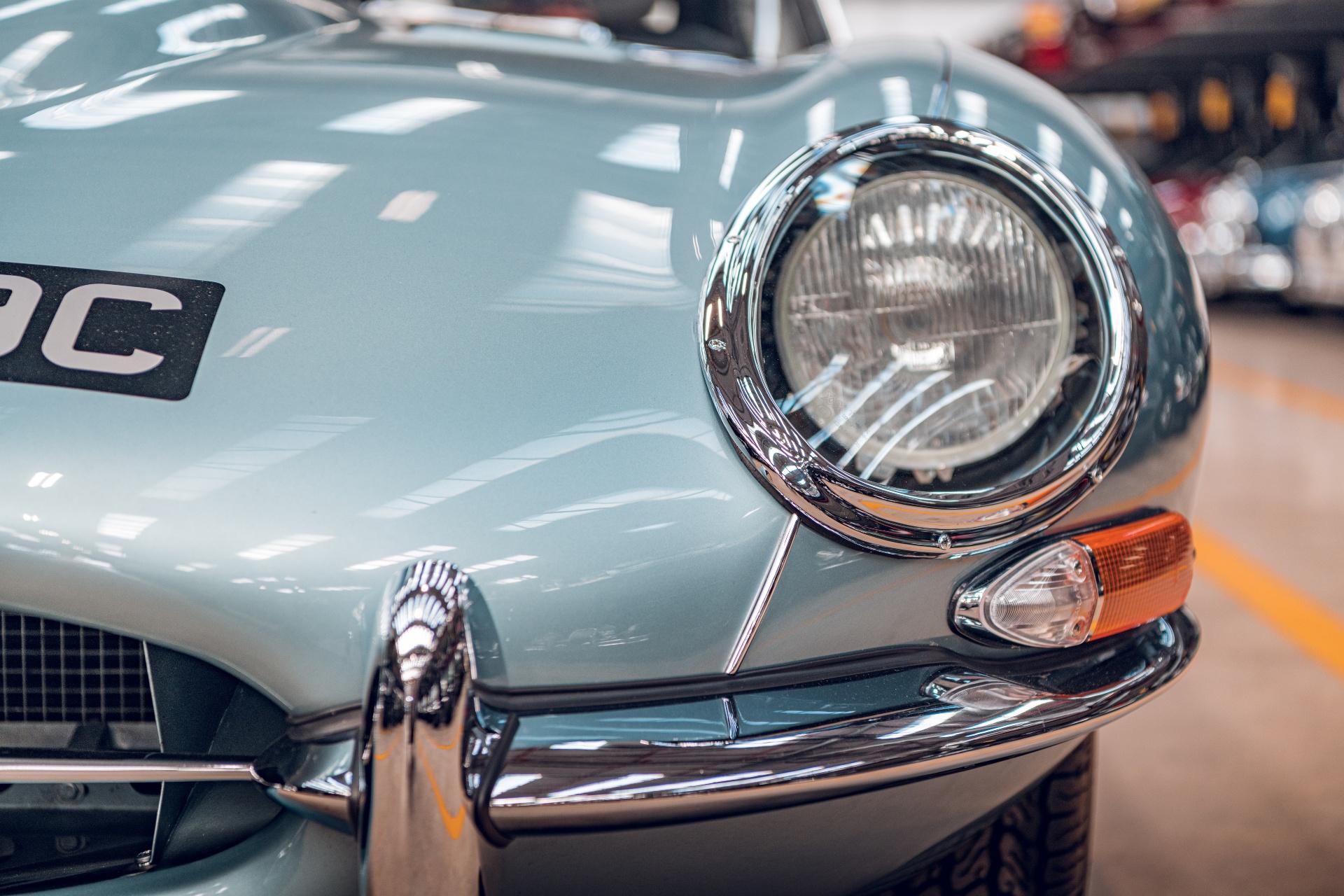 Jaguar E-Type Reborn 1965 Series 1 4.2 headlight detail