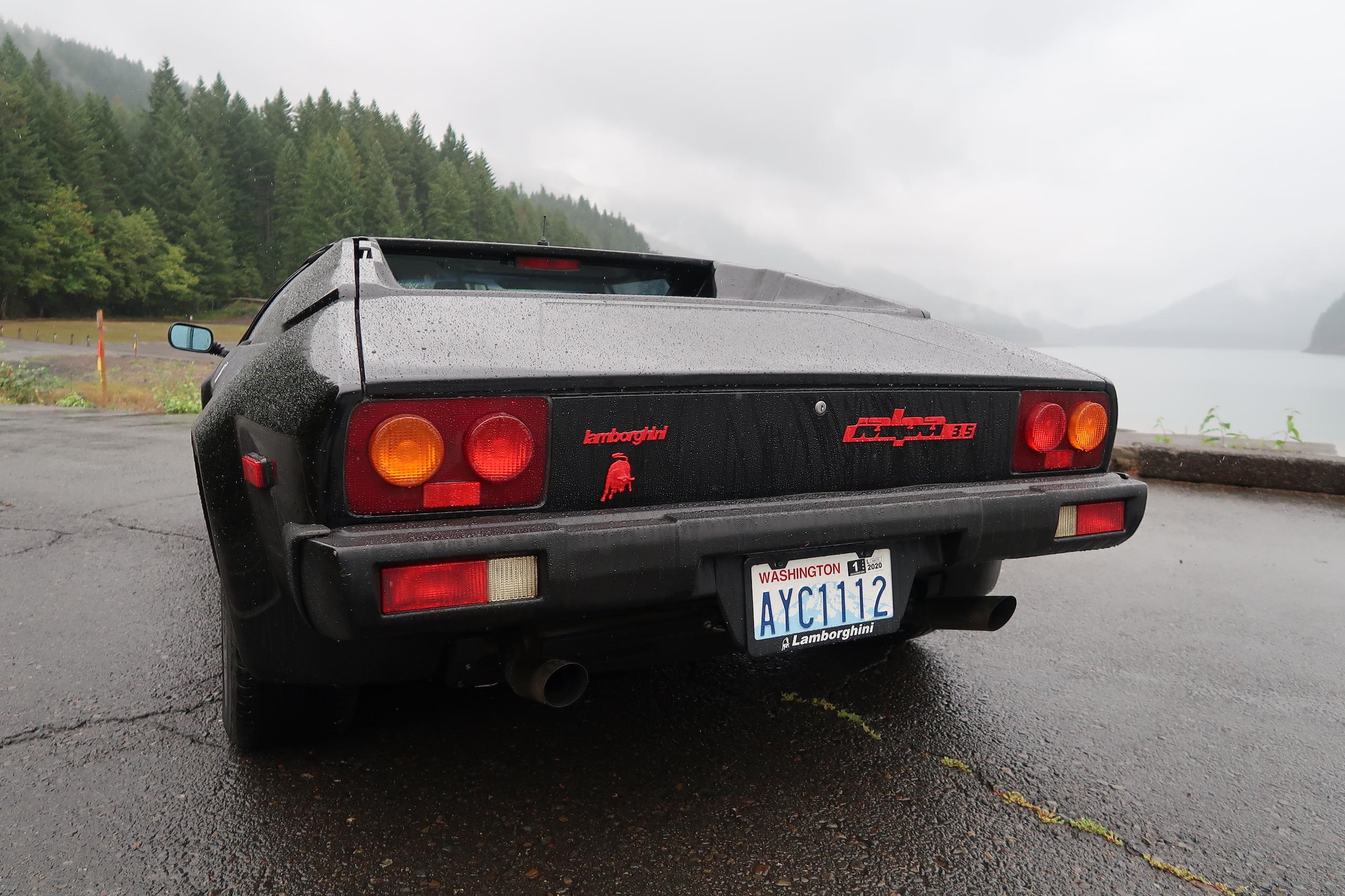 1986 Lamborghini Jalpa rear
