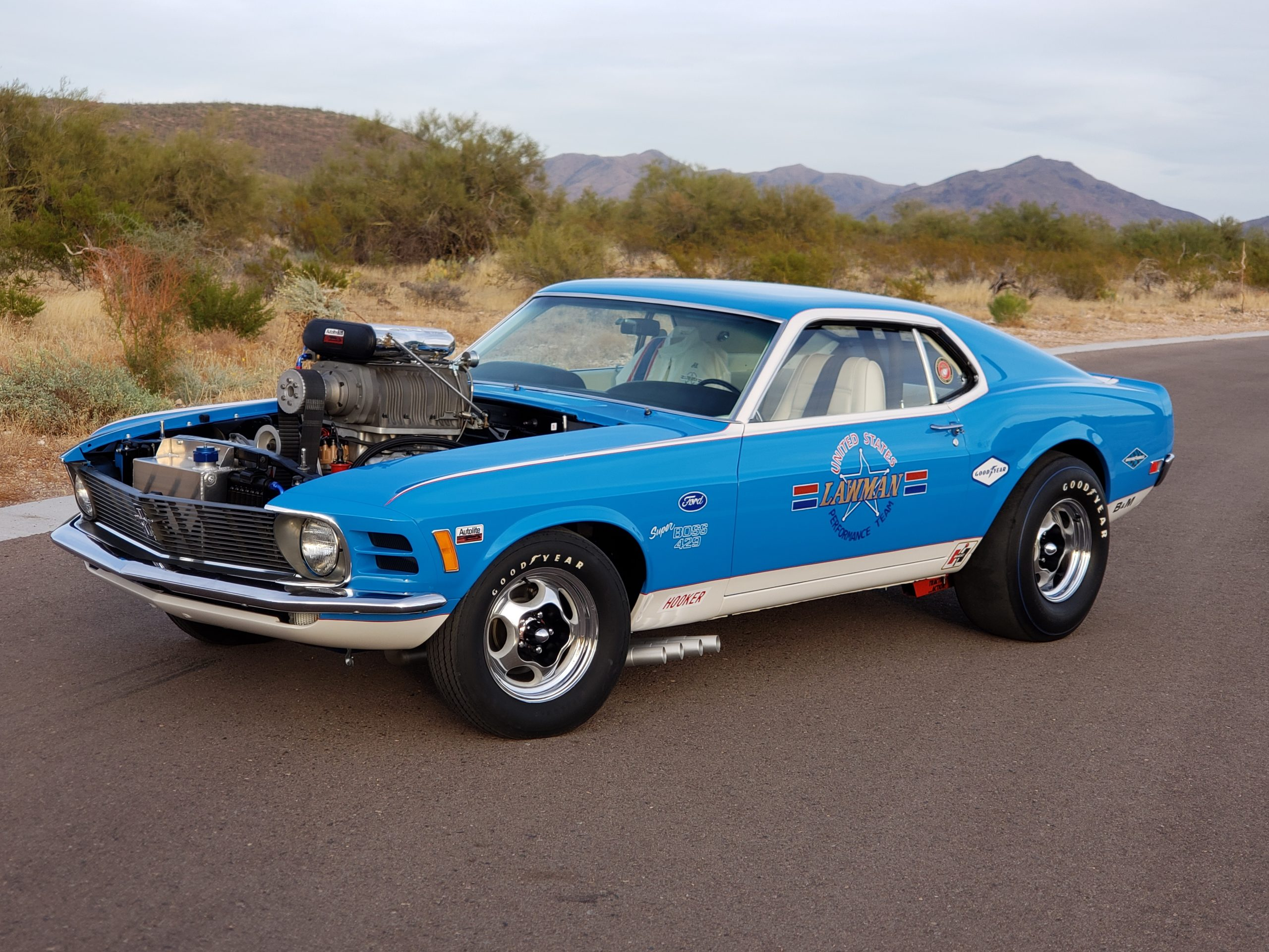 Lawman Boss 429 Ford Mustang front three-quarter