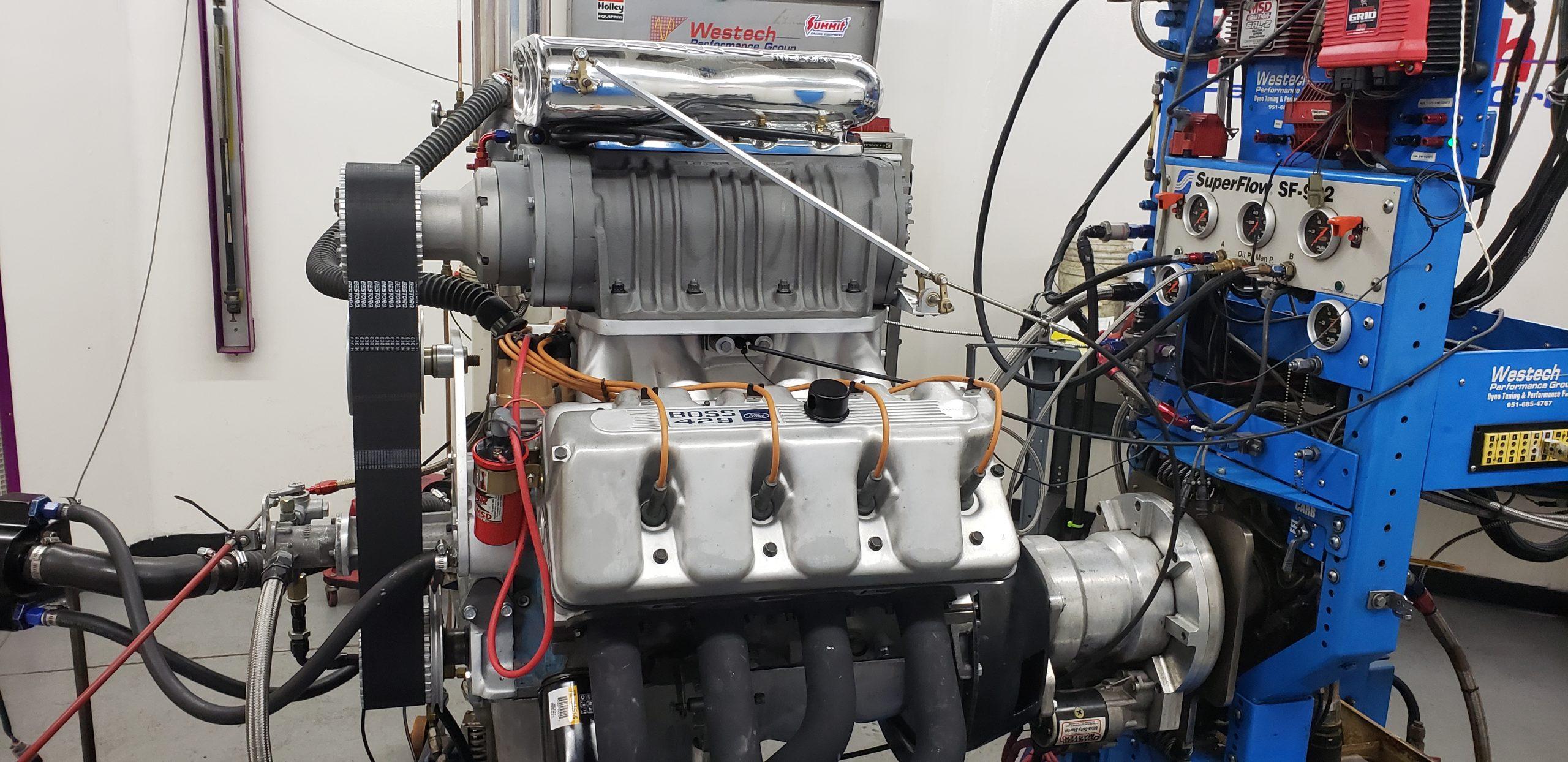 Lawman Boss 429 Ford Mustang restoration engine testing