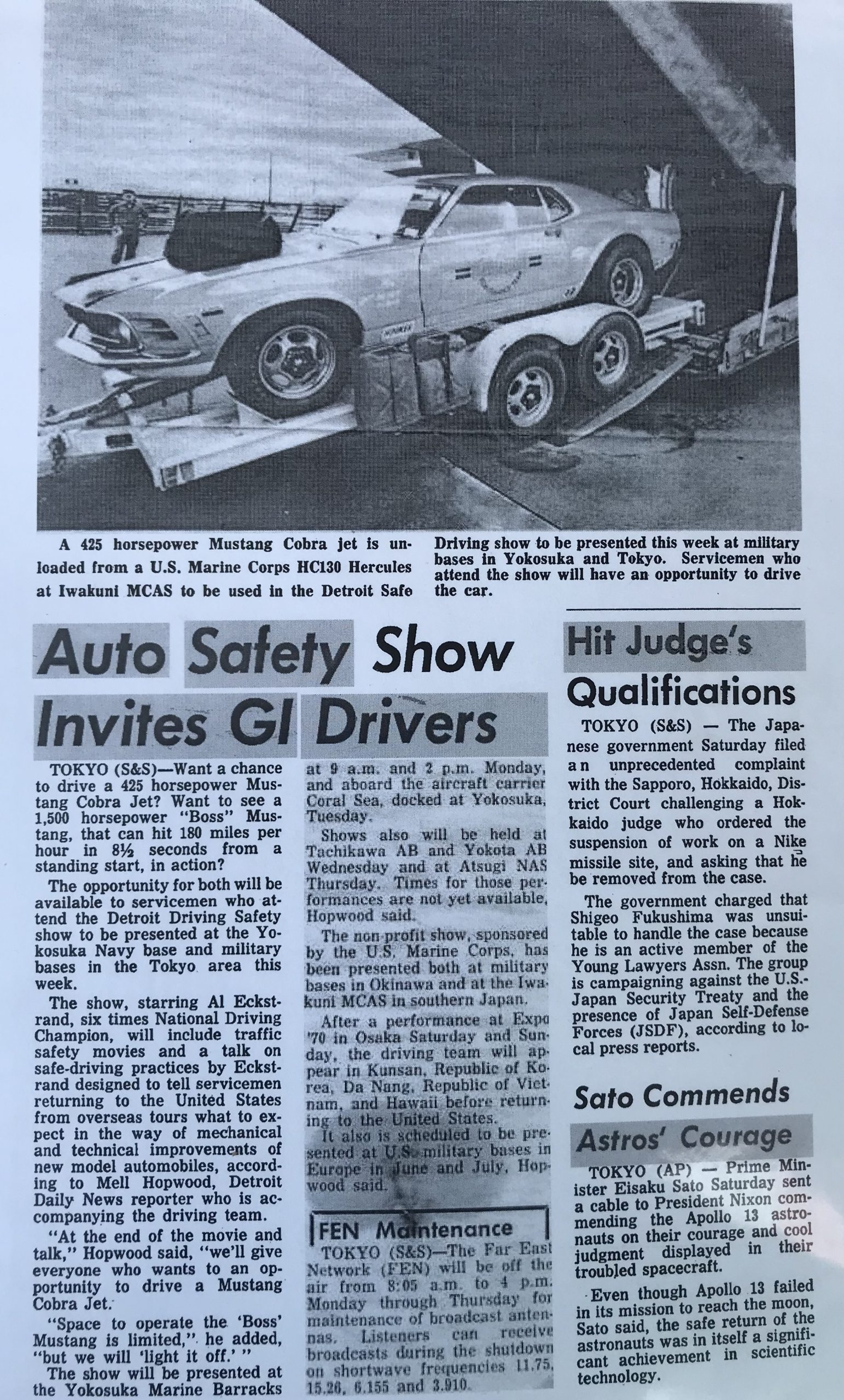 Lawman Boss 429 Ford Mustang news article