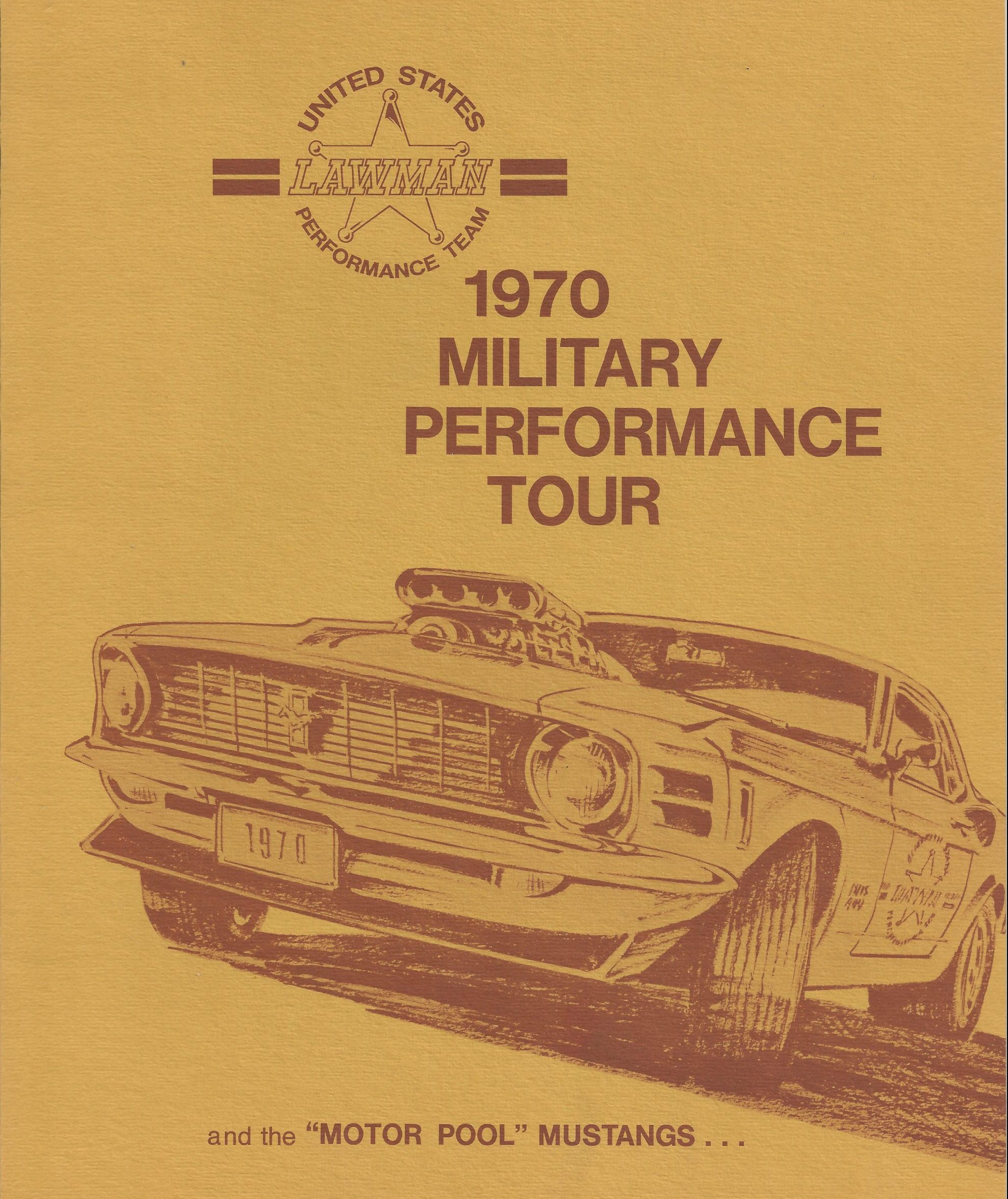1970 Military Performance Tour literature cover