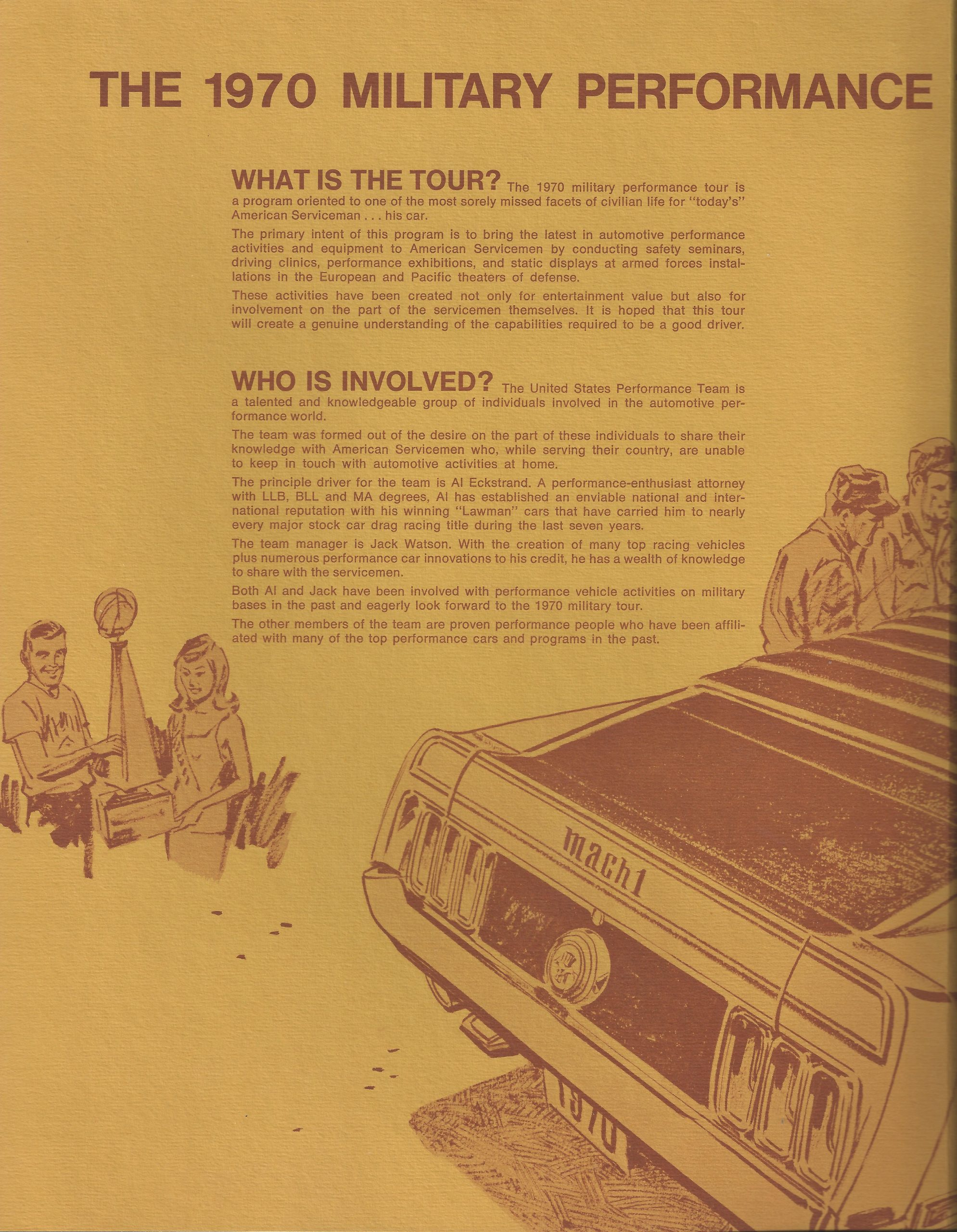 1970 Military Performance Tour literature what and who