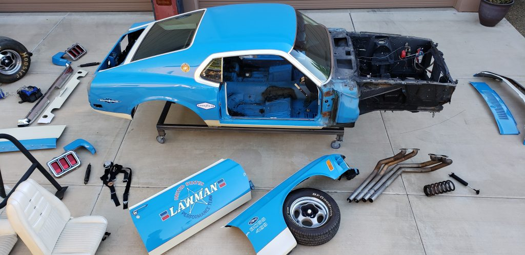 Lawman Boss 429 Ford Mustang restoration panels pieces parts