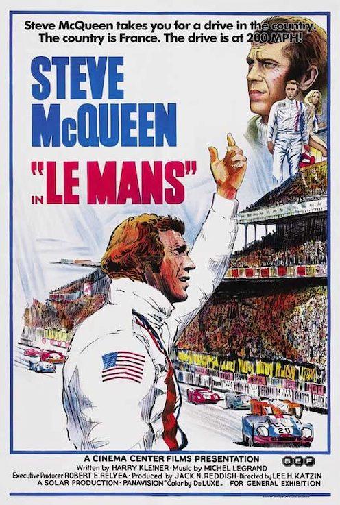 Steve McQueen Le Mans Movie Poster Art