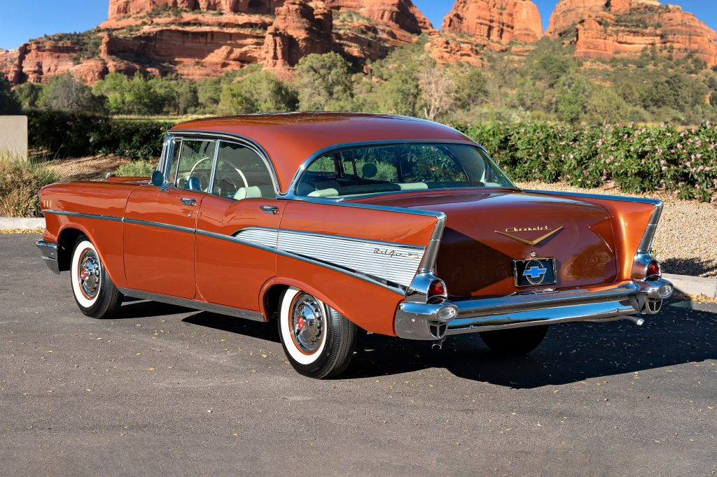 1957 Chevrolet Bel Air Convertible rear three-quarter