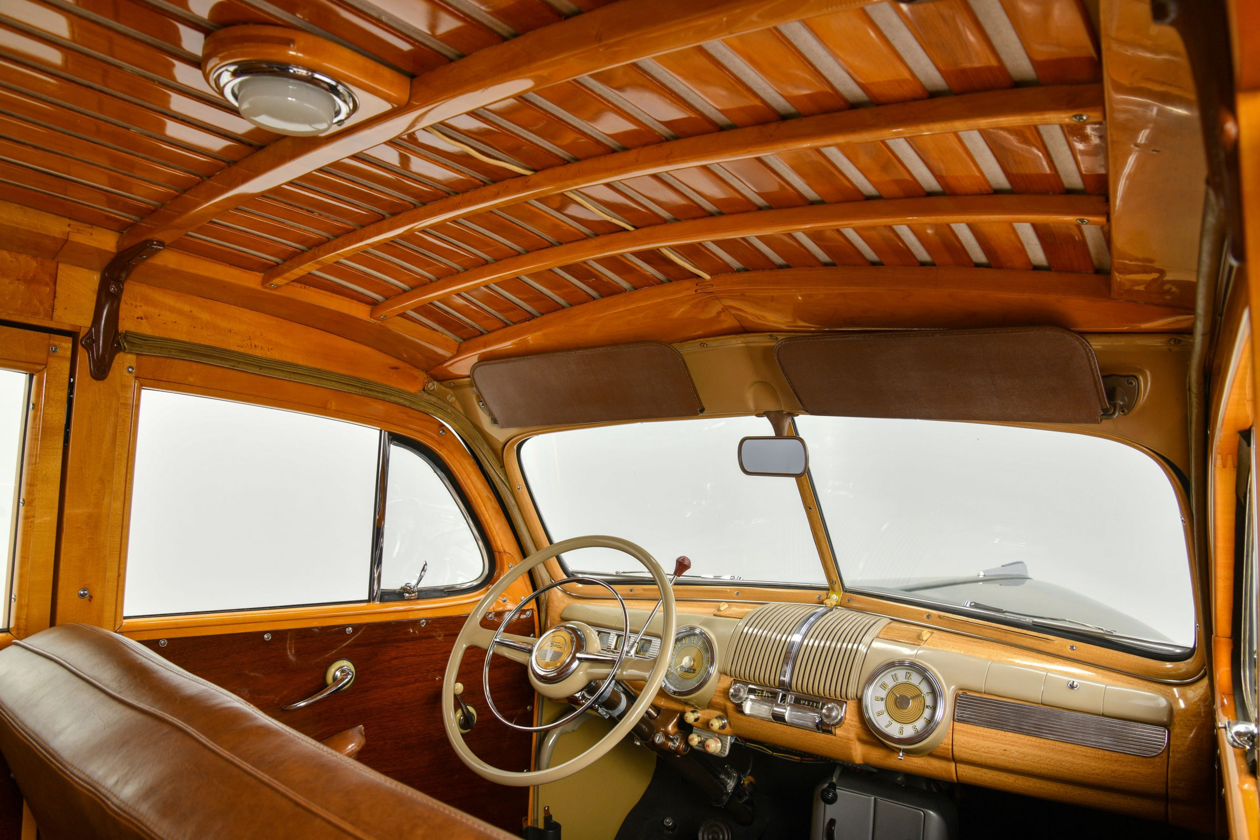 1947 FORD SUPER DELUXE CUSTOM interior roof wood work