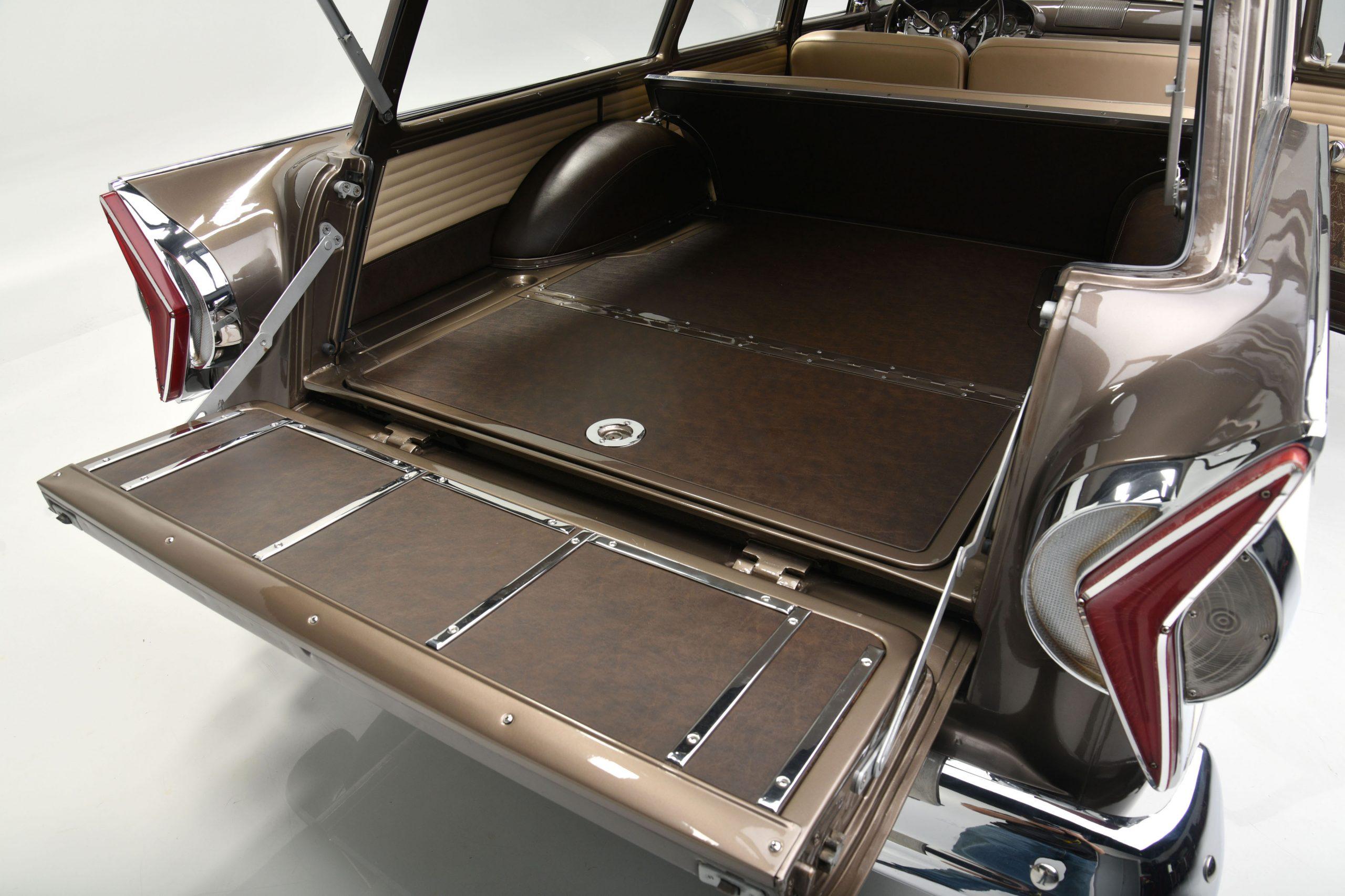 1958 EDSEL BERMUDA WAGON interior rear cargo
