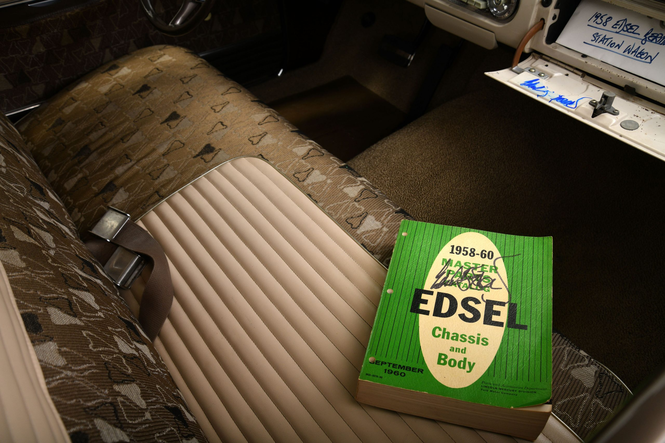 1958 EDSEL BERMUDA WAGON interior signed parts catalog