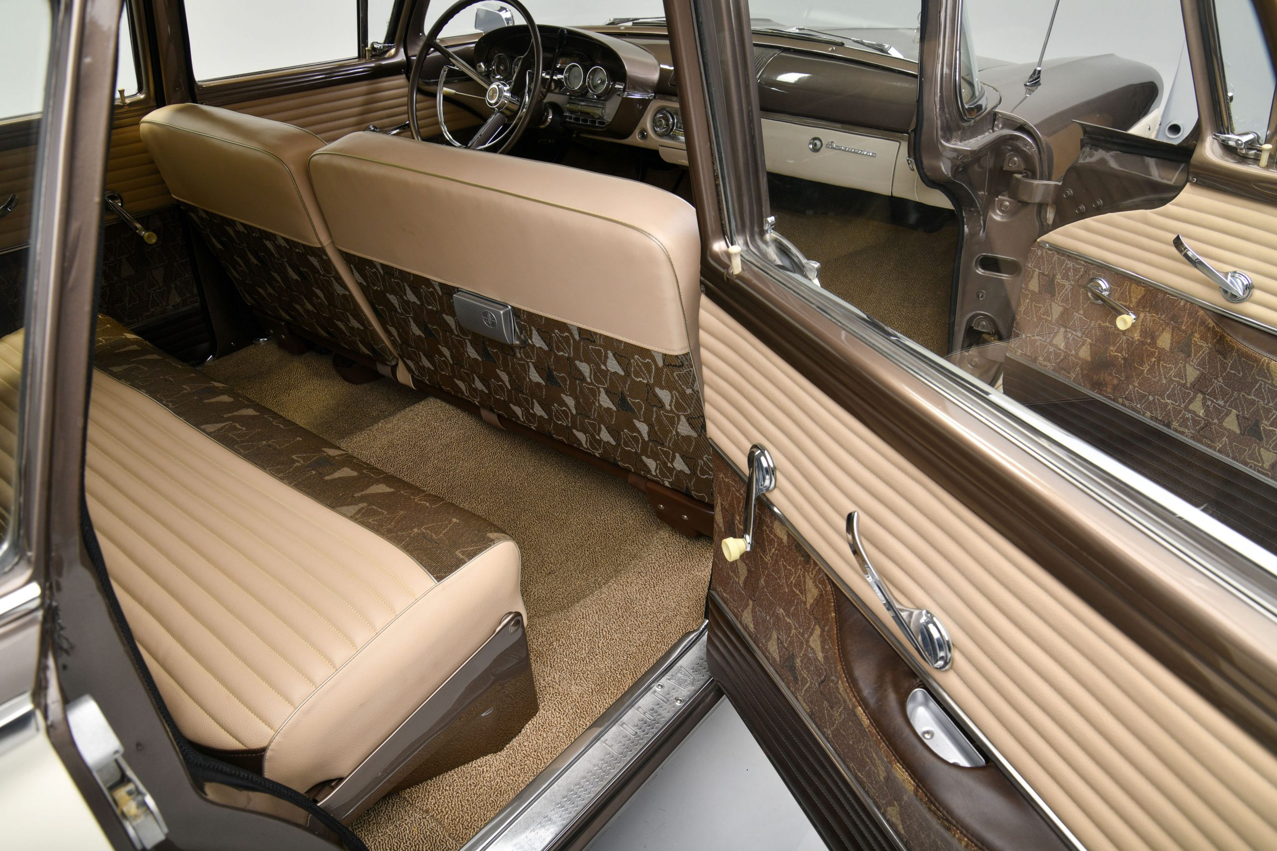1958 EDSEL BERMUDA WAGON interior rear passenger door open