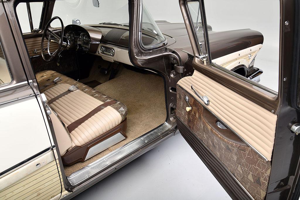 1958 EDSEL BERMUDA WAGON interior passenger door open