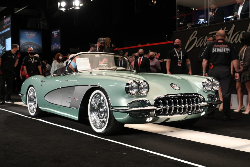 1959 Chevrolet Corvette Custom Convertible front three-quarter