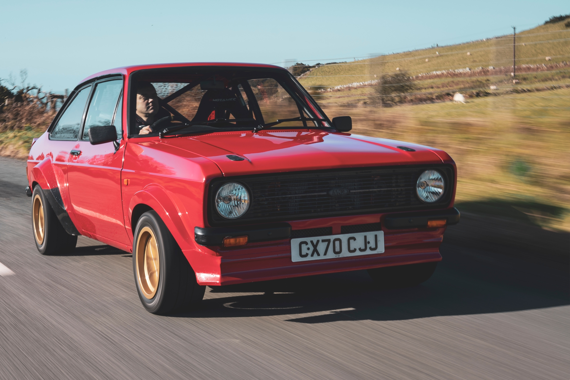 MST Mk2 front three-quarter driving action close