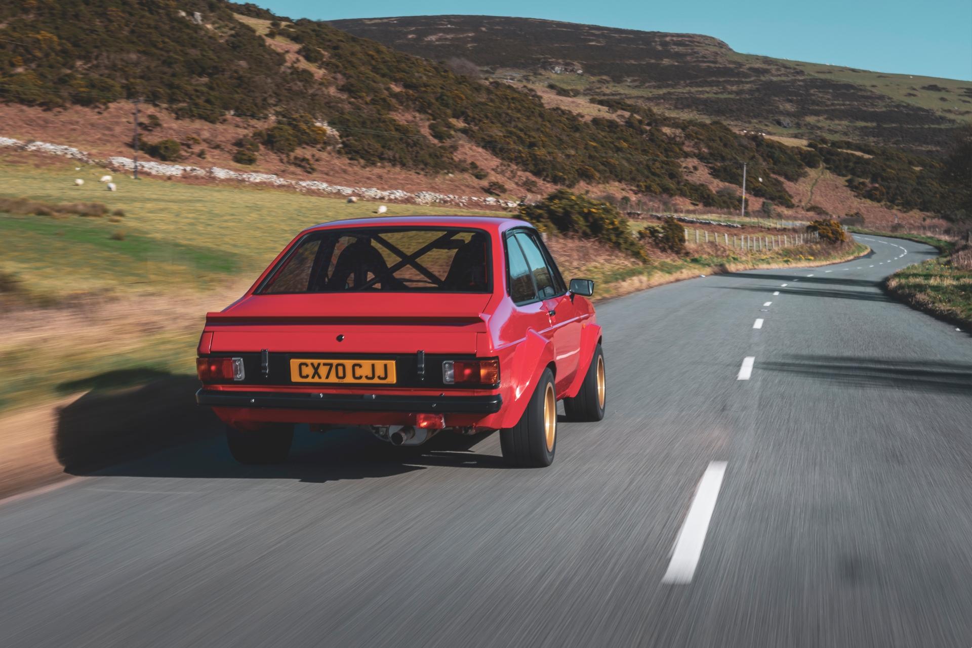 MST Mk2 rear three-quarter driving action