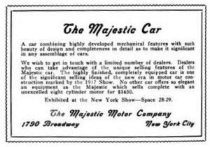 Majestic 1917 print announcement