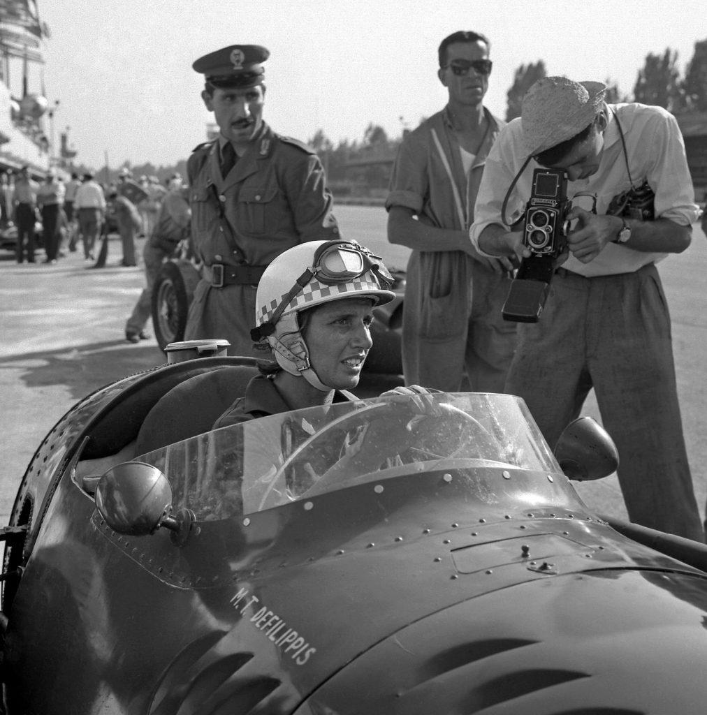 Maria Teresa Female Race Car Driver Grand Prix of Italy