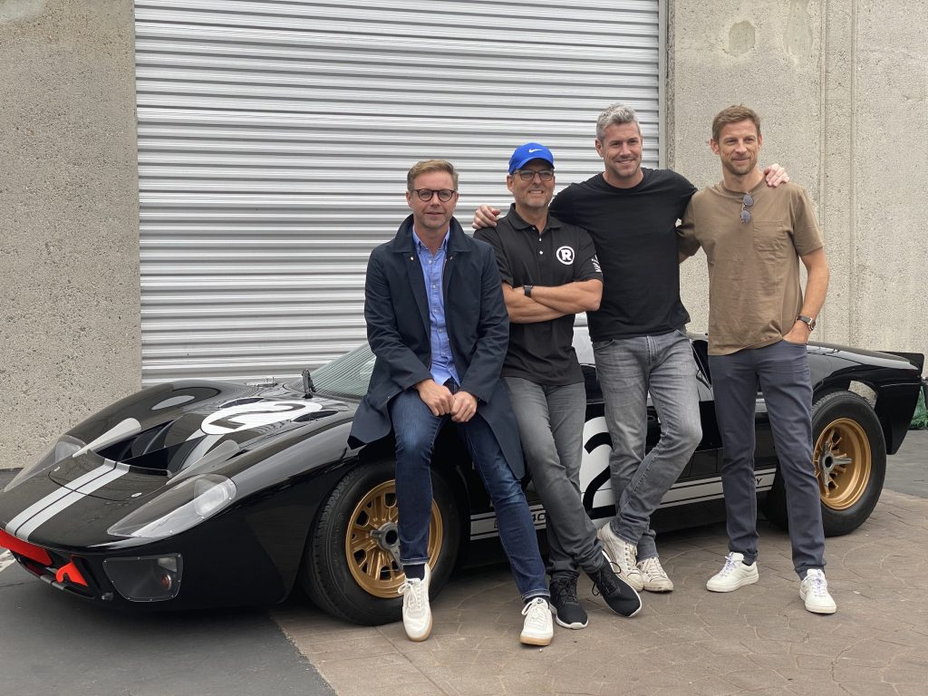 Mark Stubbs Roger Behle Ant Anstead and Jenson Button Radford Return