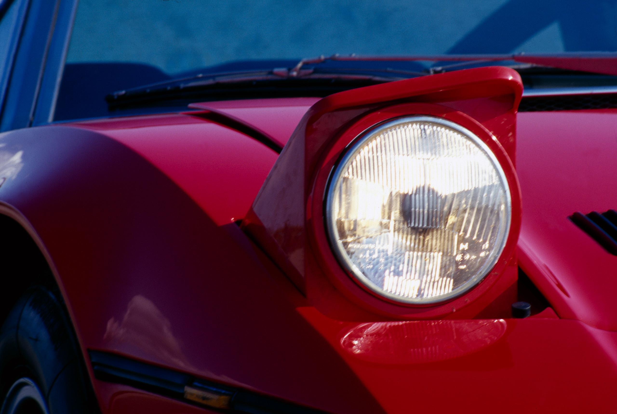 Maserati Bora headlight close