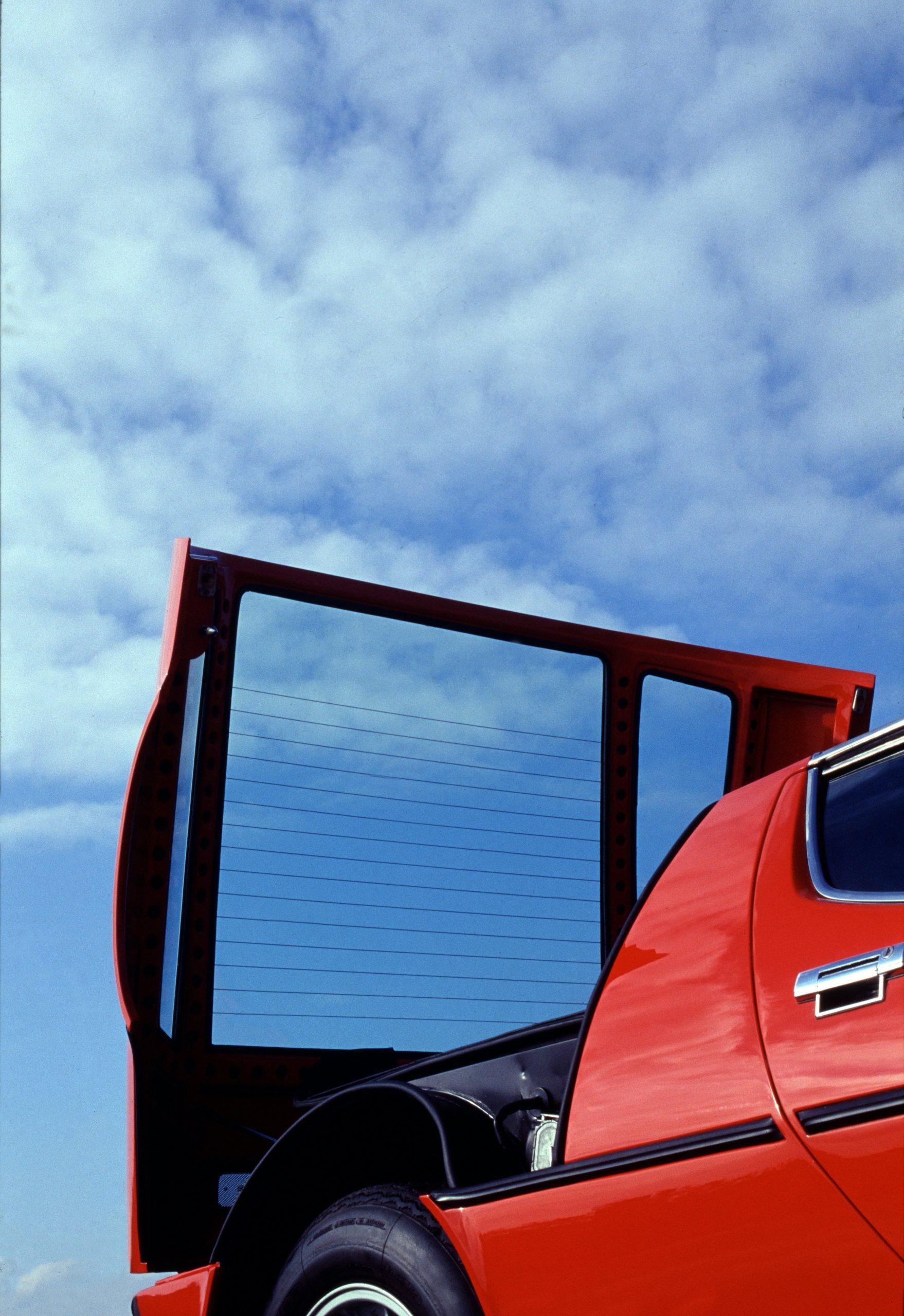 Maserati Bora rear hatch open