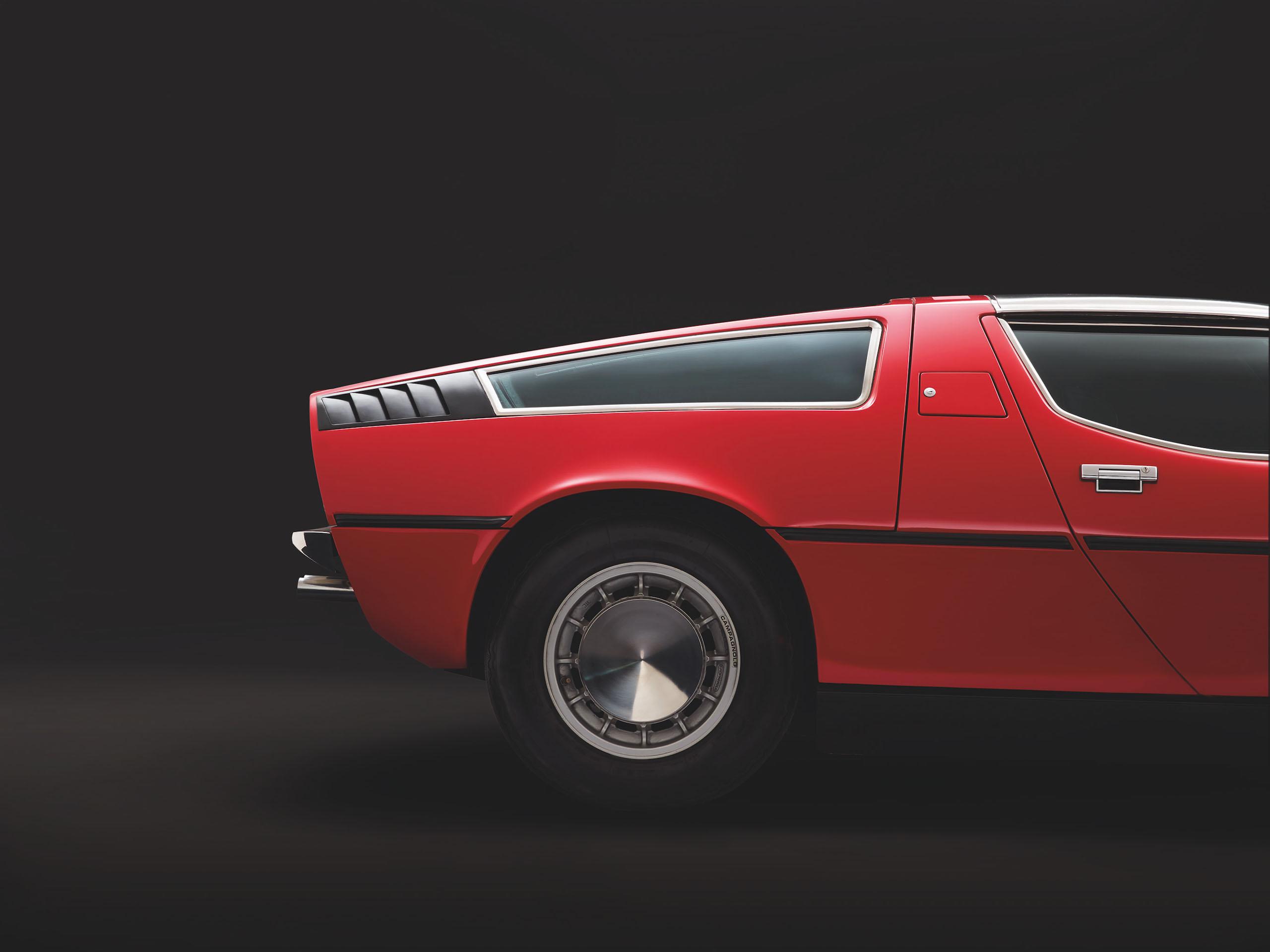 Maserati Bora rear side profile fascia