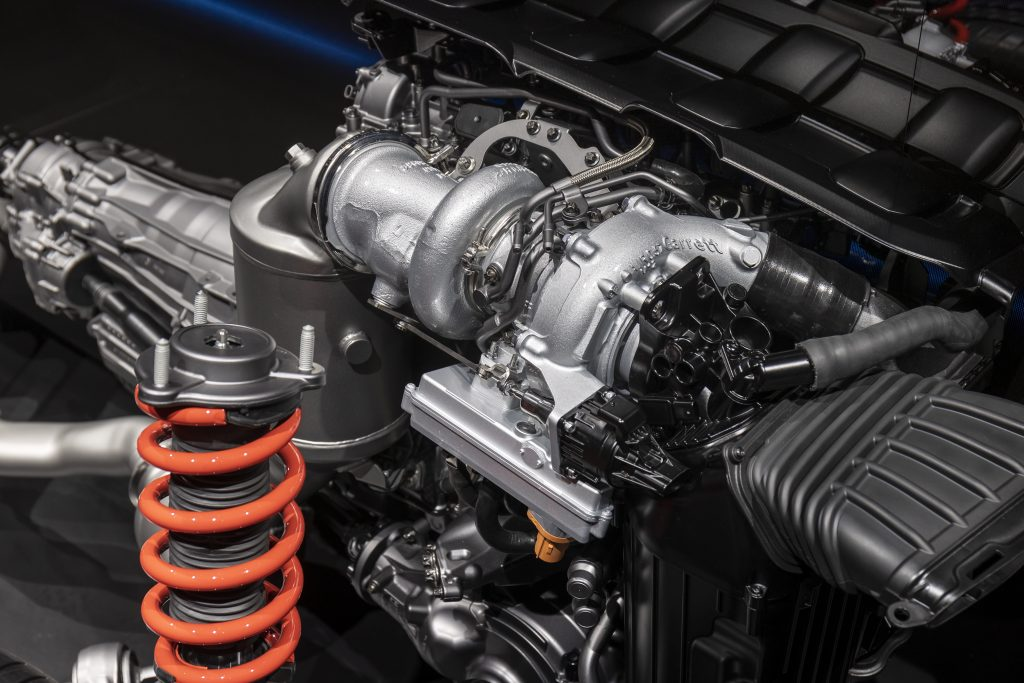 Mercedes-AMG Electrification MGU-H turbo on rolling chassis