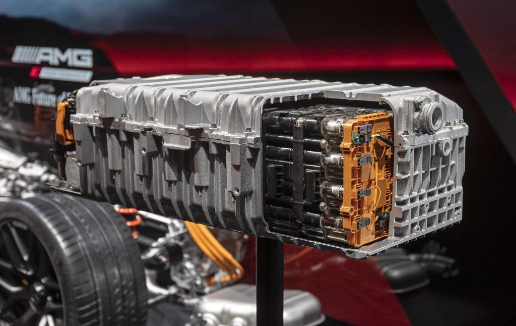 Mercedes-AMG Electrification battery cut away