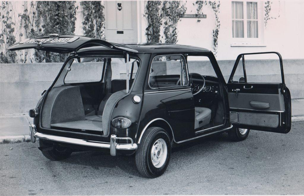 Mini Radford hatchback rear three-quarter