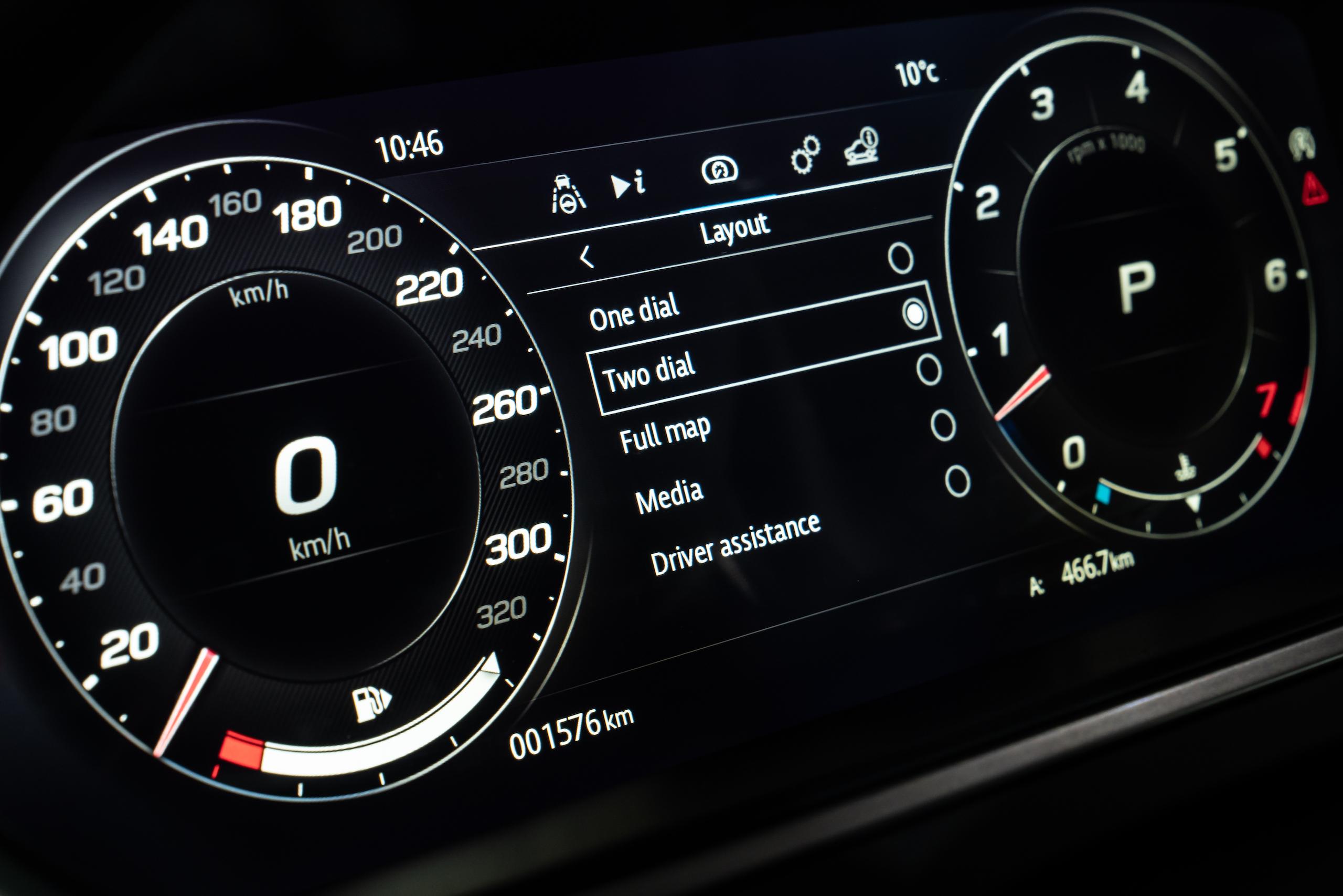 2021 Jaguar F-TYPE_R Coupe interior digital dash