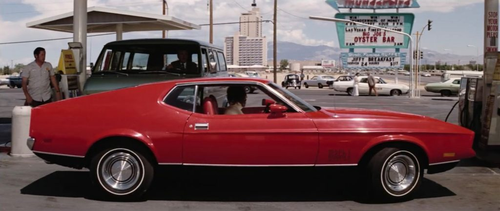 1971 Ford Mustang Mach 1 side profile james bond