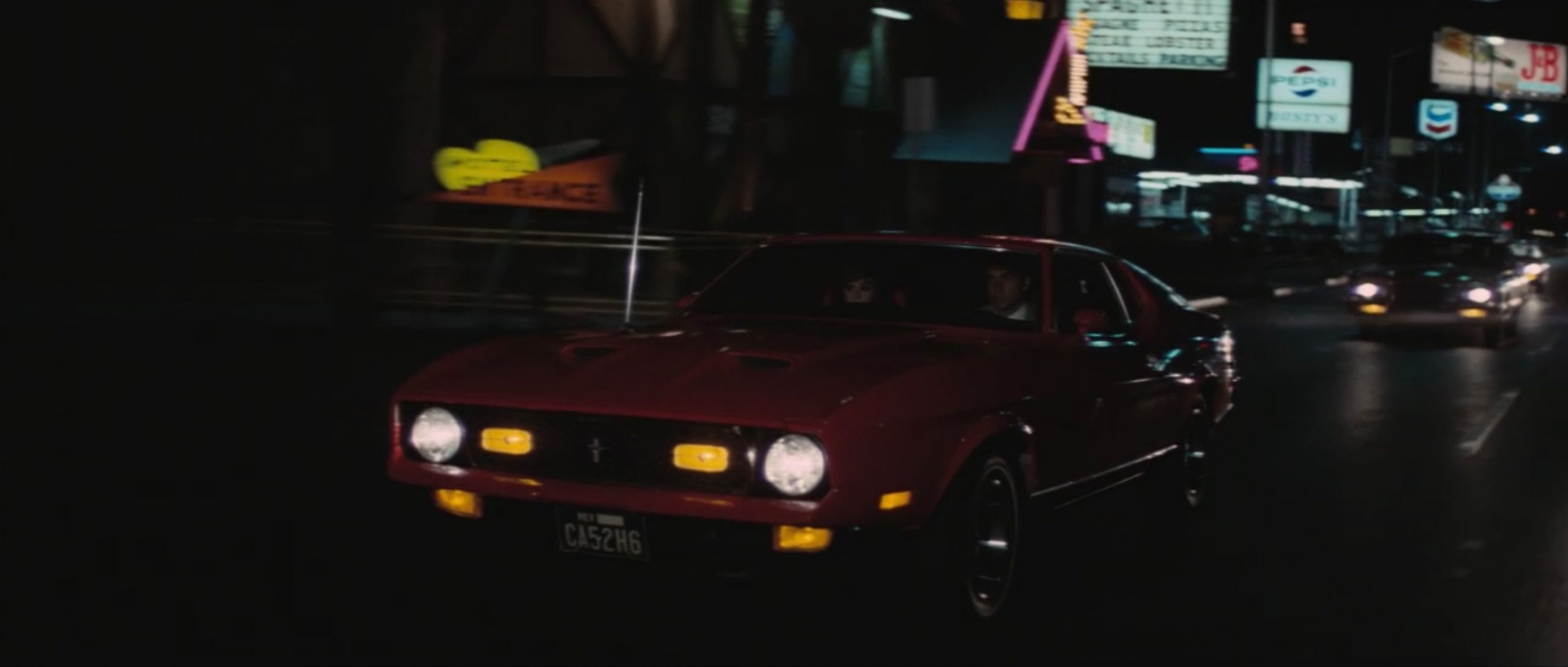 1971 Ford Mustang Mach 1 james bond night drive action