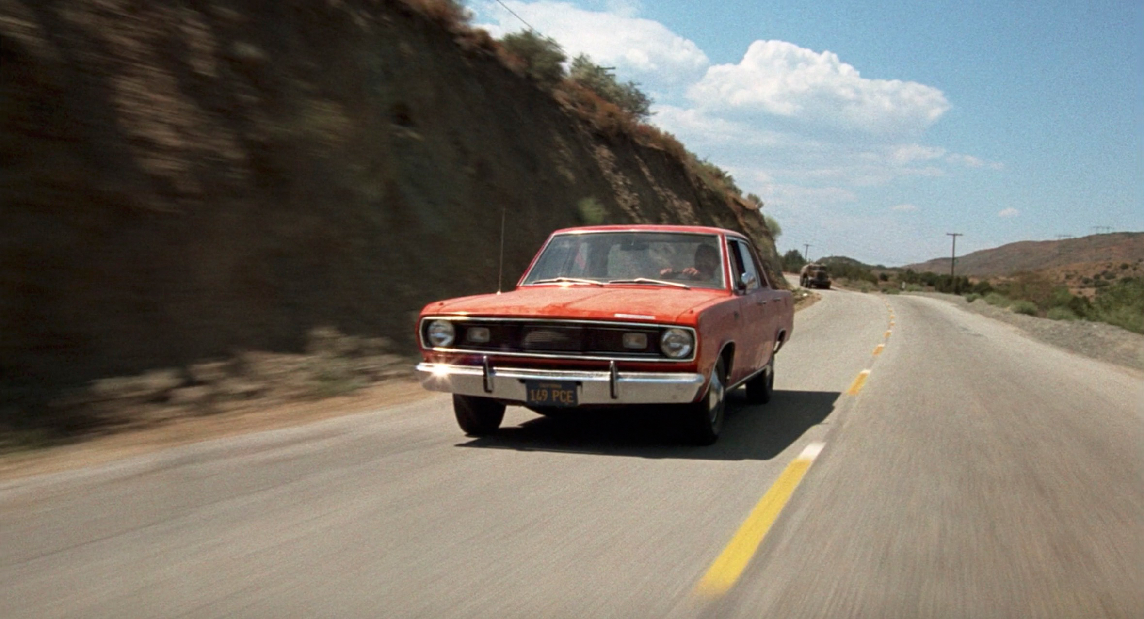 1971 Plymouth Valiant front three-quarter action