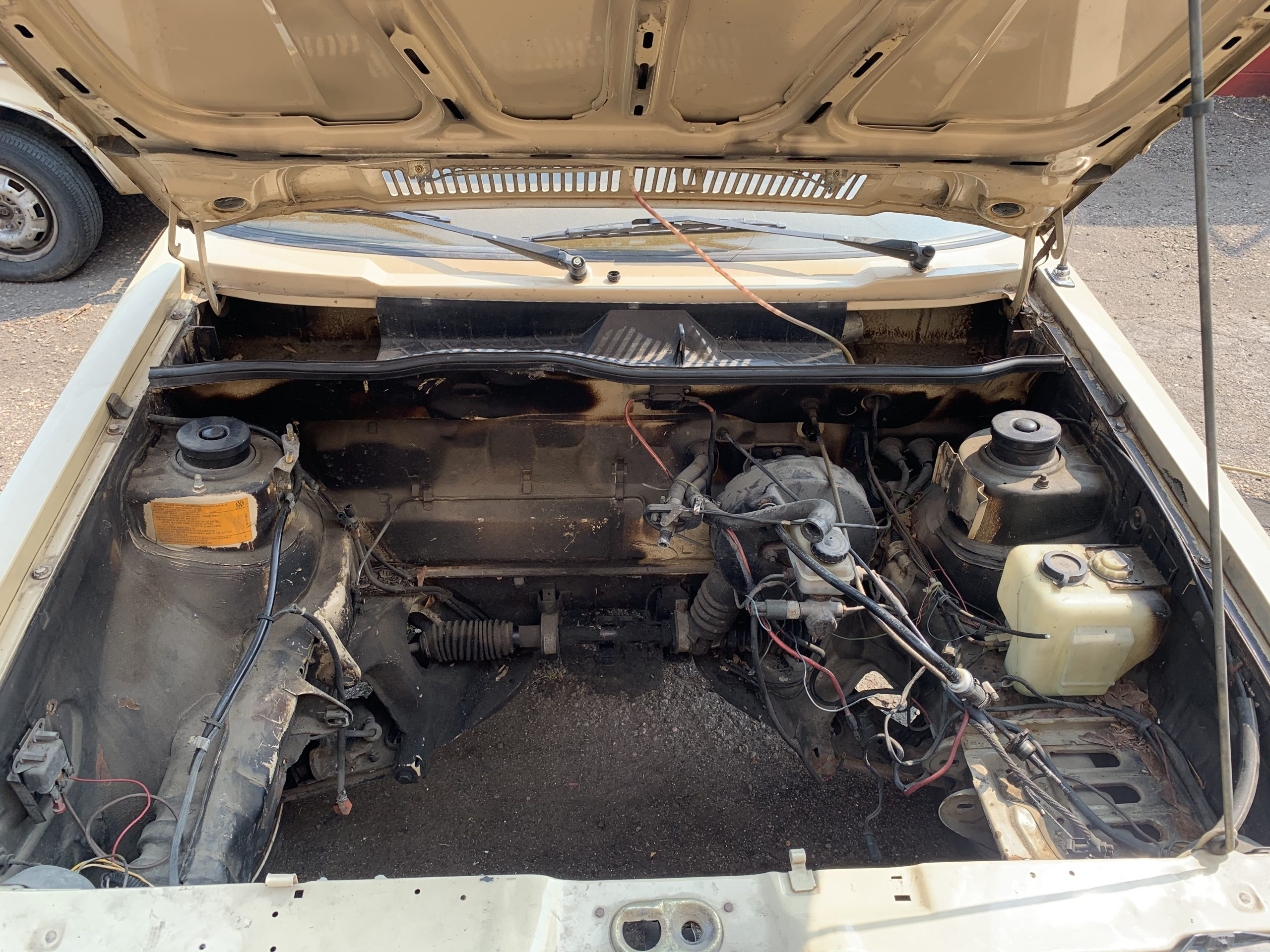 1980 VW Rabbit TDI empty engine bay Aug 22, 3 10 45 PM